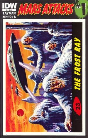 Mars Attacks Vol 3 #1 Cover W 1st Ptg Regular Card 23 Cover