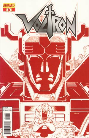 Voltron #6 Cover B Incentive Sean Chen Fiery Red Cover