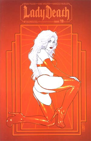 Lady Death Vol 3 #19 Incentive Art Deco Variant Cover