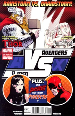 AVX VS #4 Cover B Incentive Fight Poster Variant Cover (Avengers vs X-Men Tie-In)