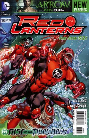 Red Lanterns #13 Regular Ivan Reis Cover (Rise Of The Third Army Tie-In)
