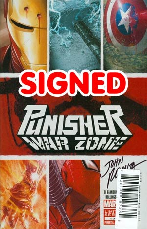 Punisher War Zone Vol 3 #1 DF Signed By John Romita Sr