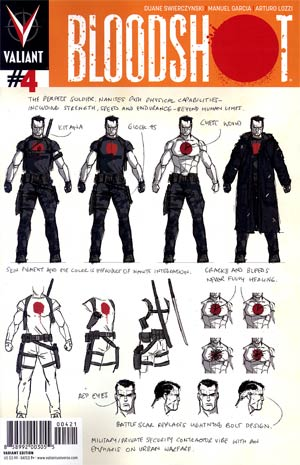 Bloodshot Vol 3 #4 Variant David Aja Character Design Cover