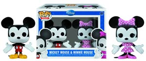 POP Mini Disney 01 Mickey Mouse And Minnie Mouse Vinyl Figure 2-Pack