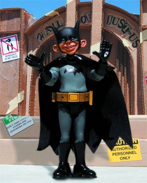MAD Just-Us League Of Stupid Heroes Series 3 Alfred E Neuman As Batman Action Figure