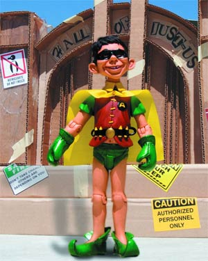 MAD Just-Us League Of Stupid Heroes Series 3 Alfred E Neuman As Robin Action Figure