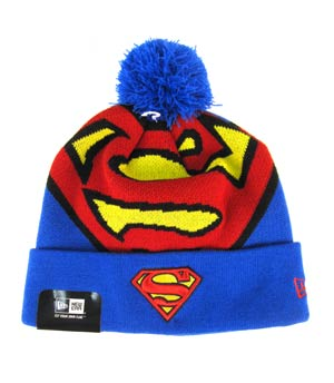 Woven Biggie Knit Cap - Superman