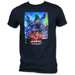 Godzilla vs Megaguirus Poster Previews Exclusive Black T-Shirt Large