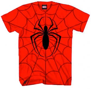 Spider-Man Combine Power Red All-Over-Print T-Shirt Large