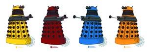 Doctor Who 6-Piece Vinyl Sticker Set #1