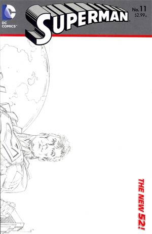 Superman Vol 4 #11 Incentive Dan Jurgens Sketch Cover