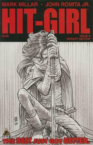 Hit-Girl #2 Cover C Incentive John Romita Jr Sketch Cover
