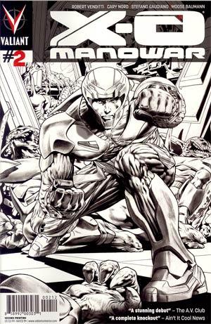 X-O Manowar Vol 3 #2 Cover C 2nd Ptg