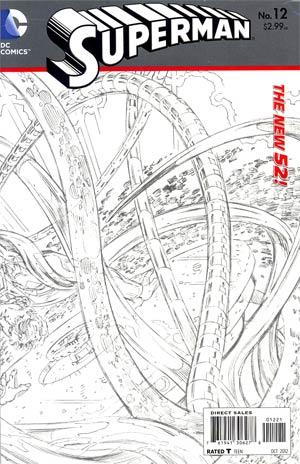 Superman Vol 4 #12 Incentive Dan Jurgens Sketch Cover