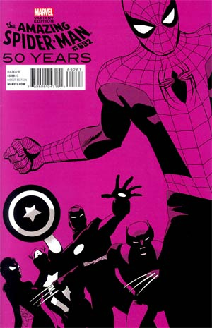 Amazing Spider-Man Vol 2 #692 Cover F Variant Marcos Martin 2000s Decade (Purple) Cover