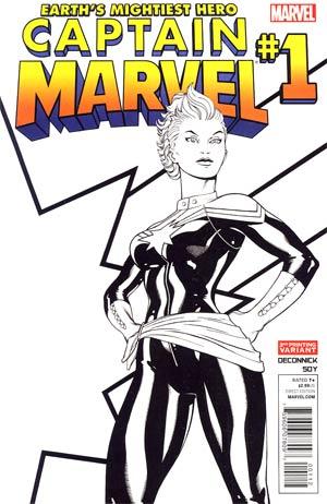 Captain Marvel Vol 6 #1 2nd Ptg Ed McGuinness Variant Cover