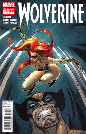 Wolverine Vol 4 #312 Cover B Incentive J Scott Campbell Variant Cover