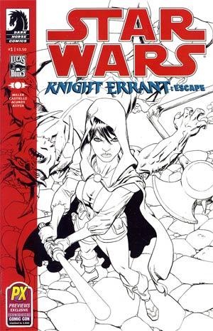 Star Wars Knight Errant Escape #1 SDCC 2012 Retailer Exclusive Benjamin Carre Sketch Cover