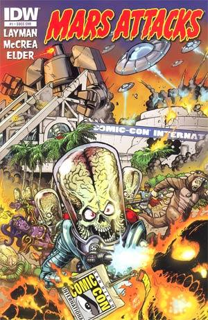 Mars Attacks Vol 3 #1 Cover Z-Z-E SDCC 2012 Retailer Exclusive Matt Frank Variant Cover
