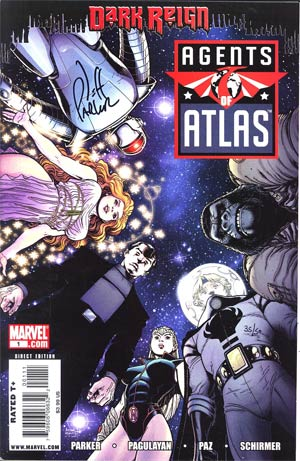 Agents Of Atlas Vol 2 #1 Cover C DF Signed by Jeff Parker