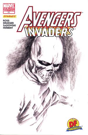 Avengers Invaders #11 DF Exclusive Alex Ross Sketch Variant Cover