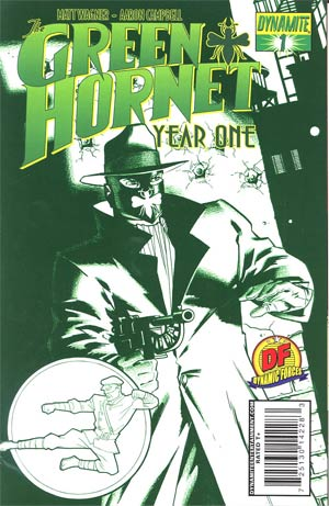 Green Hornet Year One #1 Cover I DF Exclusive Matt Wagner Cool Green Variant Cover