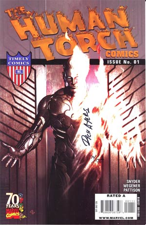 Human Torch Comics #1 70th Anniversary Special DF Signed By Dick Ayers
