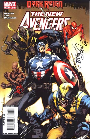New Avengers #48 Cover B DF Signed By Billy Tan (Dark Reign Tie-In)