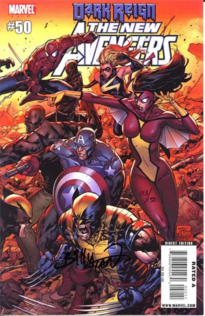 New Avengers #50 Cover C DF Signed By Billy Tan