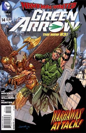 Green Arrow Vol 6 #14 (Hawkman Wanted Part 2)