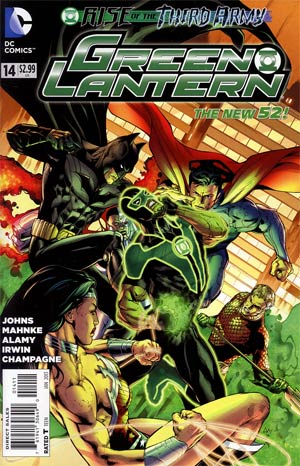 Green Lantern Vol 5 #14 Regular Doug Mahnke Cover (Rise Of The Third Army Tie-In)
