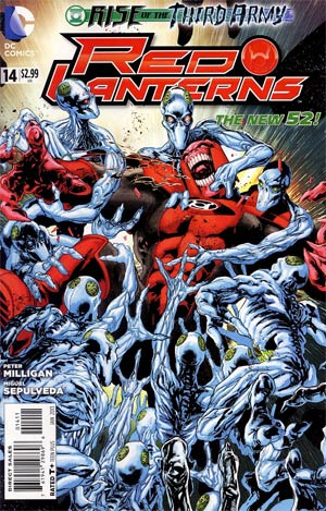 Red Lanterns #14 Cover A Regular Miguel Sepulveda Cover (Rise Of The Third Army Tie-In)