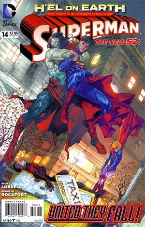 Superman Vol 4 #14 Regular Kenneth Rocafort Cover (Hel On Earth Part 4)