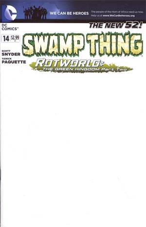 Swamp Thing Vol 5 #14 Variant We Can Be Heroes Blank Cover