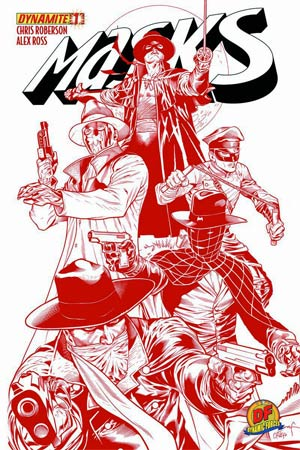 Masks #1 DF Exclusive Ardian Syaf Blood Red Cover Signed By Chris Roberson