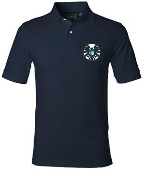 Marvel Classic S.H.I.E.L.D. Logo Previews Exclusive Polo Shirt Medium