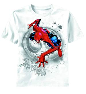 Spider-Man Search The Wall White T-Shirt Medium