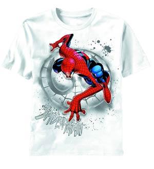 Spider-Man Search The Wall White T-Shirt Medium