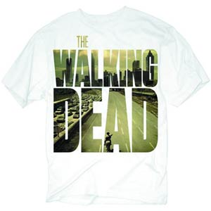 Walking Dead Picture Logo White T-Shirt Large