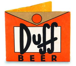 Simpsons Mighty Wallet - Duff