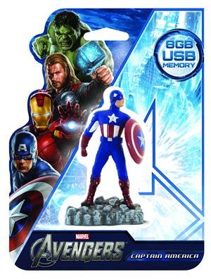 Avengers 8GB Figural Flash Drive - Captain America