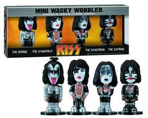 KISS Mini Wacky Wobbler 4-Pack Set