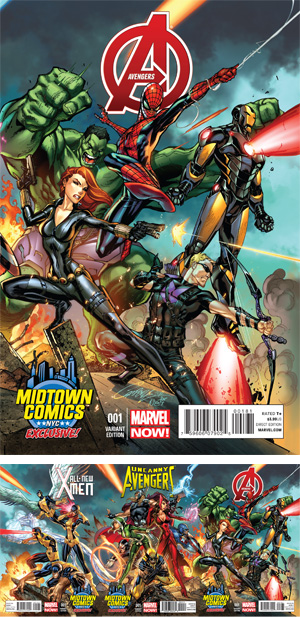 Avengers Vol 5 #1 Cover B Midtown Exclusive J Scott Campbell Connecting Variant Cover (Part 3 of 3)