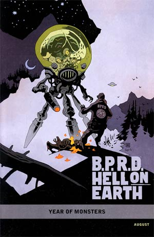 BPRD Hell On Earth Return Of The Master #1 Incentive Mike Mignola Year Of Monsters Variant Cover