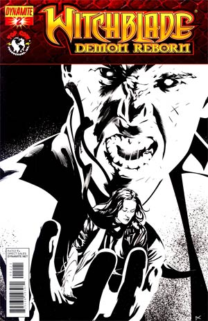 Witchblade Demon Reborn #2 Incentive Dennis Calero Black & White Cover