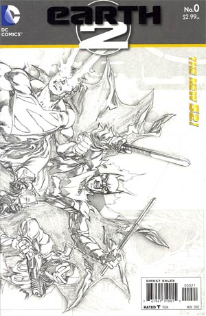 Earth 2 #0 Incentive Ivan Reis Sketch Cover