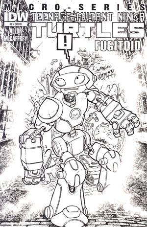 Teenage Mutant Ninja Turtles Micro-Series #8 Cover C Fugitoid Incentive David Petersen Sketch Cover