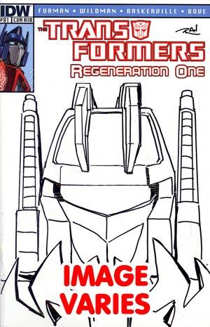 Transformers Regeneration One #81 Incentive Daniel Khanna Hand-Drawn Sketch Variant Cover