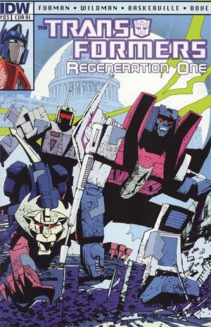 Transformers Regeneration One #83 Incentive Geoff Senior Variant Cover