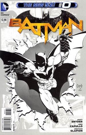 Batman Vol 2 #0 Cover F Incentive Greg Capullo Sketch Cover